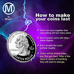 M Is Magic Magic Tricks quarter shell