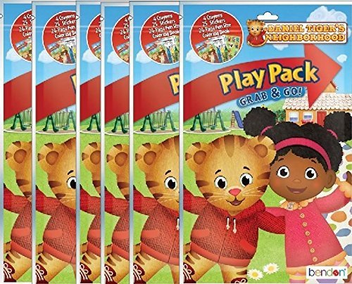 Daniel Tigers Neighborhood Play and Go Super Set Coloring Book with Stickers and Crayons - 6 Pack