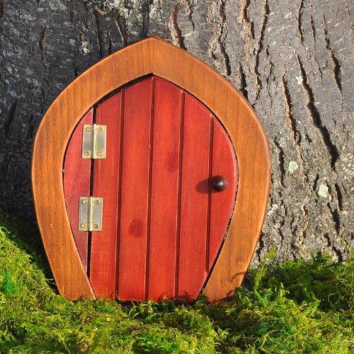 Miniature Fairy Garden Wooden Gnome Door Red & Gnome Door: Amazon.com