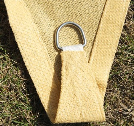 San diego shade sail 20 39 x12 39 rectangle sandy beach buy for Shade cloth san diego