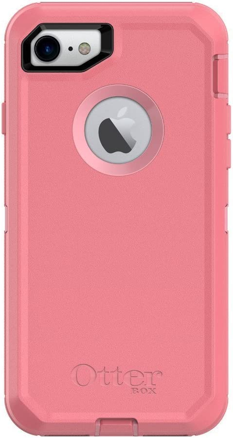 OtterBox Defender Series Case for iPhone SE (2020), iPhone 8, iPhone 7 (NOT Plus) - Case Only - Rosmarine Way (Rosmarine/Pipeline Pink)
