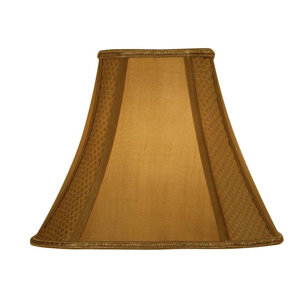 Oaks Lighting S852/14Go souple doublé octogonale Lampe, soie, Golden S852/14 GO