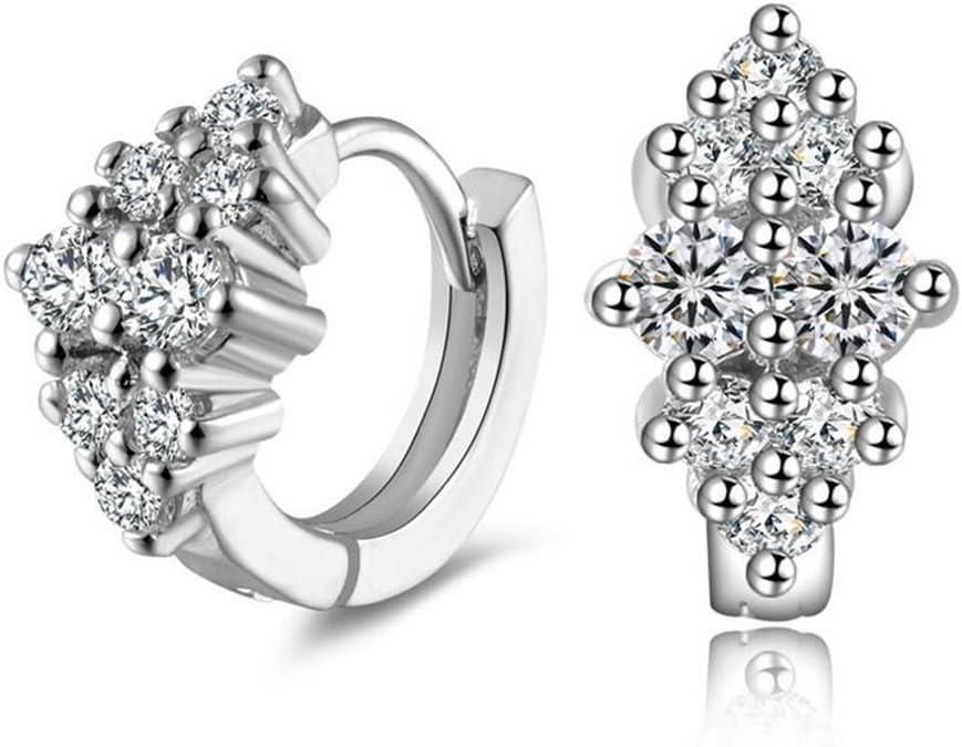 nikgic diamante pendientes Hoop Pendientes Sterling joyas Claps regalo élégants para las mujeres regalo