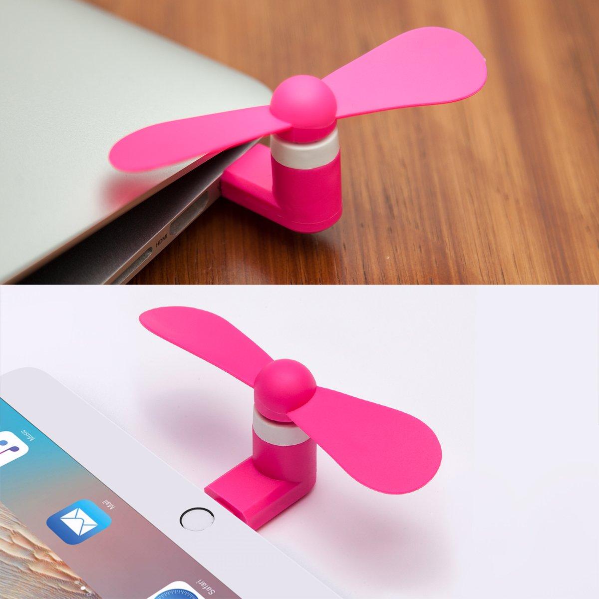 iPhone Fan,Portable Cell Phone Fan Compatible for Mini Fan for iPhone 6//6 Plus,7//7 Plus,8//8 Plus ipad Blue