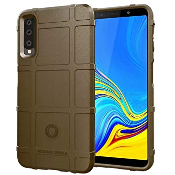 Excelsior Premium Shockproof Armour Cover for Samsung Galaxy A7 2018  Brown  Mobile Phone Cases   Covers