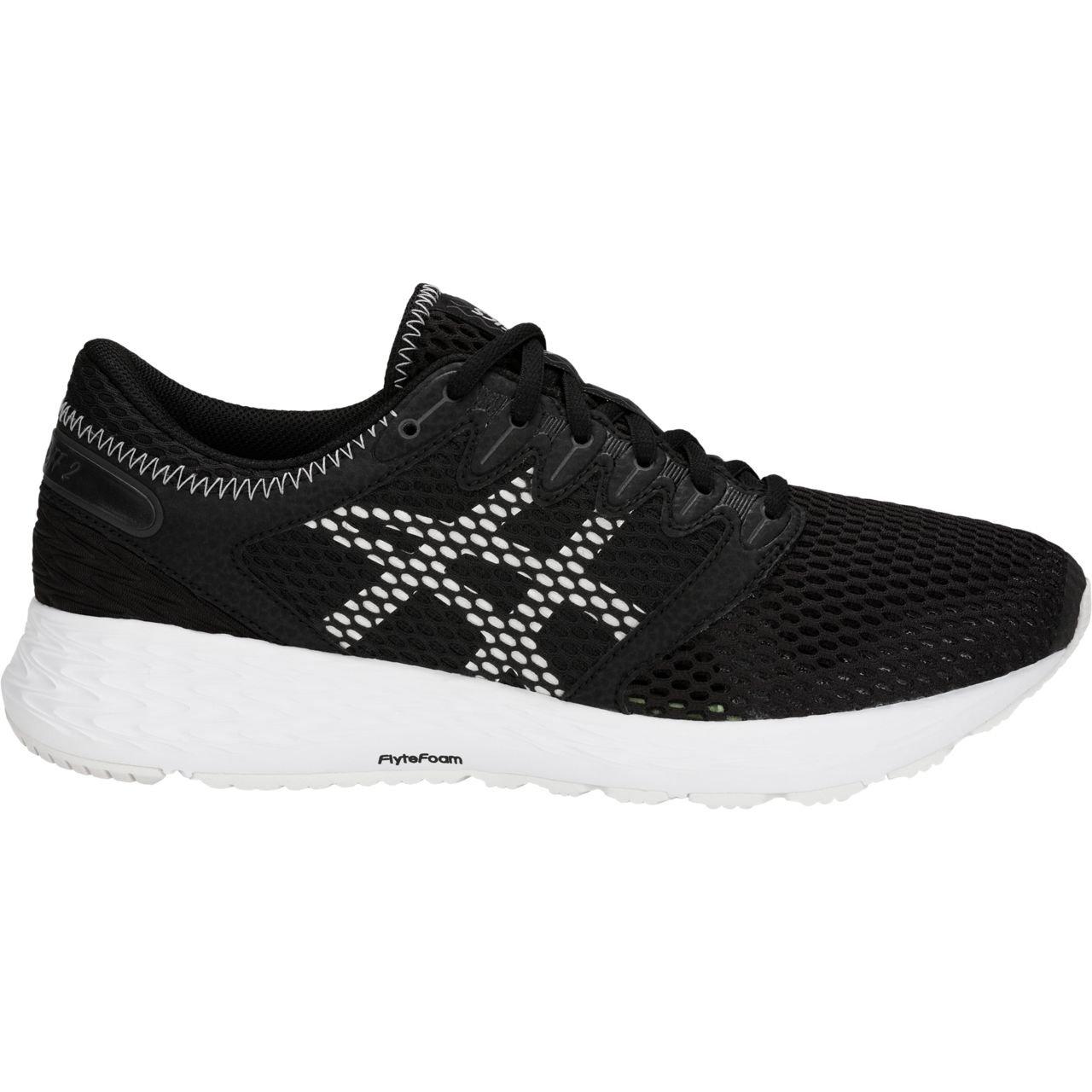 Bk White ASICS Women's Roadhawk Ff 2 Running shoes 1012A123