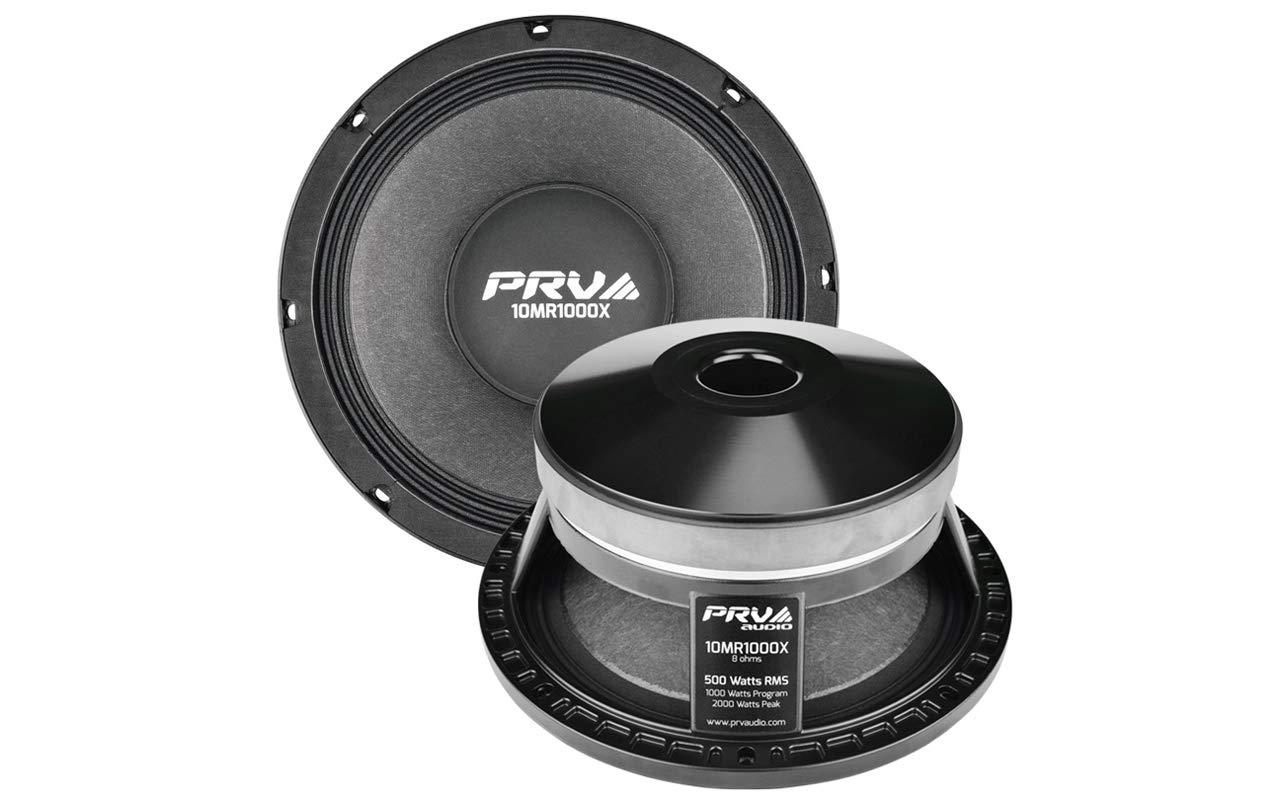 PRV AUDIO 10MR1000X 10'' Mid Range 8 ohms Pro Audio Speaker 100dB 500 Watts RMS 3'' VC (Single)