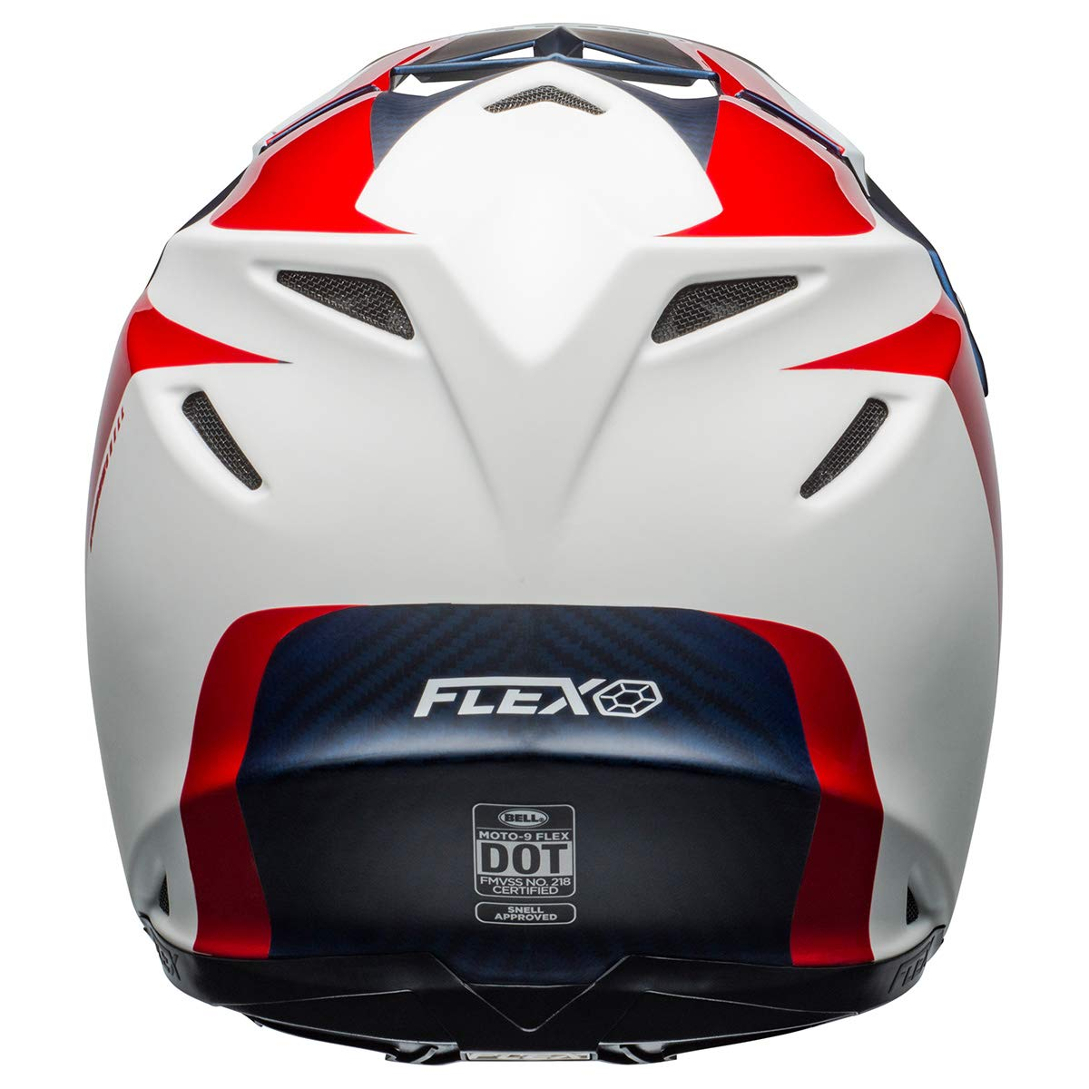 Division Matte//Gloss White//Blue//Red, X-Large Bell Moto-9 Flex Off-Road Motorcycle Helmet