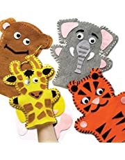Jungle Animal Hand Puppet Sewing Kits (Pack of 4)