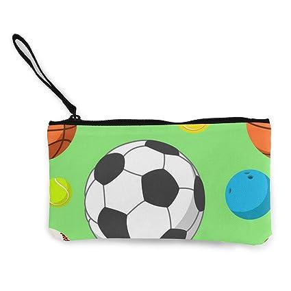 TTmom Carteras de Mujer,Monedero,Sport Balls Pattern Wallet ...