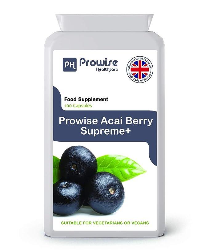 Acai Berry - Prowise Acai Berry 1000mg 120 cápsulas - DOBLE RESISTENCIA Azaí seco congelado - Reino Unido Fabricado de alta calidad a las normas GMP - Apto ...