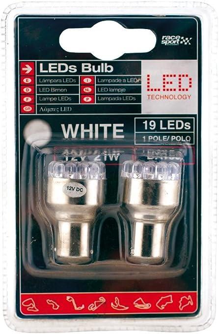 SUMEX Led1221 - Lámpara Leds 112V, 21W, Ba15S 1 Polo Blanca, Par ...