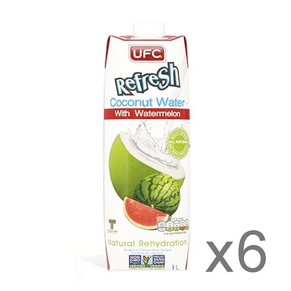 UFC Refresh Agua de Coco - Coco con Sandía, 6 Pack