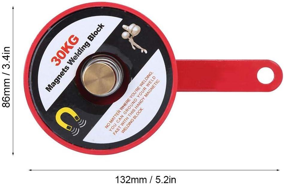 Red Magnetic Welding Positioner 30kg Magnetic Grounding Block Pipeline Installation for Welding Magnetic Welding Locator Magnet Clamp