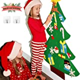 3ft DIY Felt Christmas Tree Sets +26pcs DIY Christmas Ornaments for Kids, Wall Door Hanging Christmas Decorations Xmas Trees Decor for Kids Room, Toddler Girl Boy Christmas Toys Gifts Ideas +Free Hook