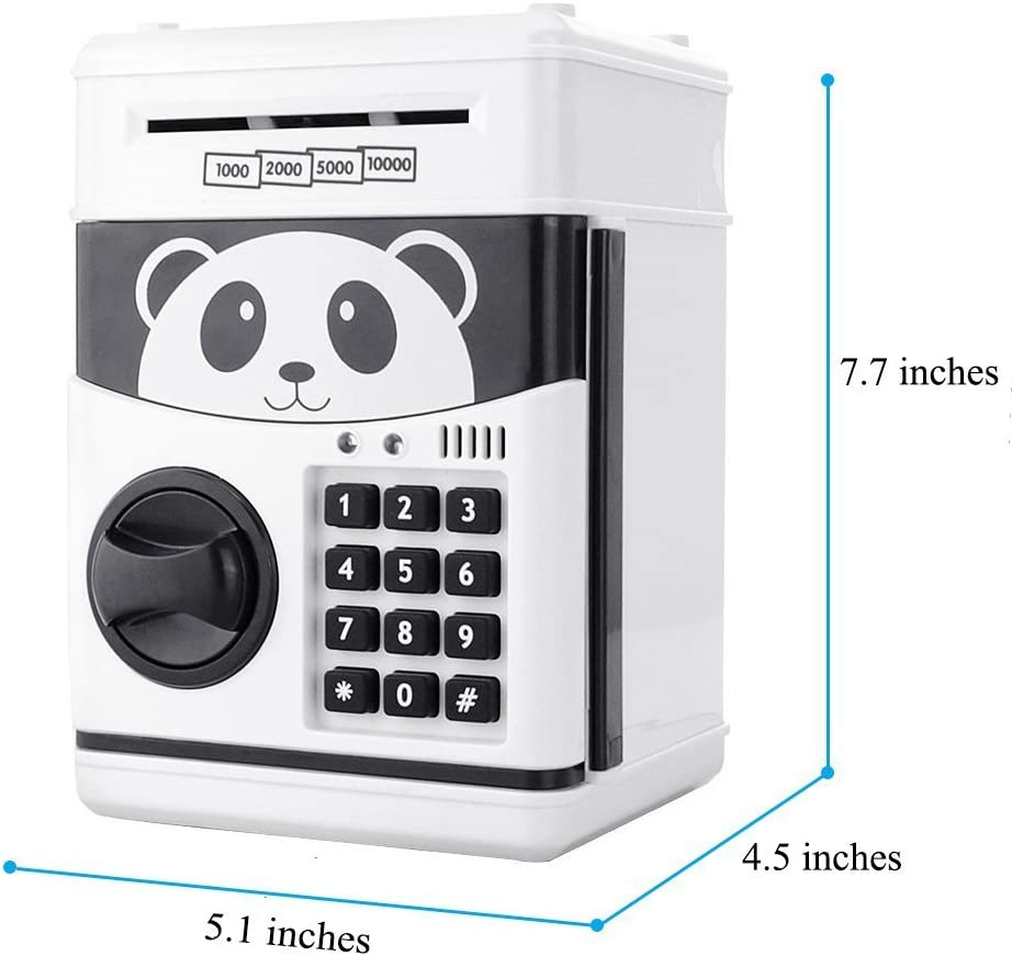 Amazon Com Topbry Cartoon Electronic Password Piggy Bank Cash Coin Can Auto Scroll Paper Money Saving Box Best Toy Gifts For Kids Home Kitchen