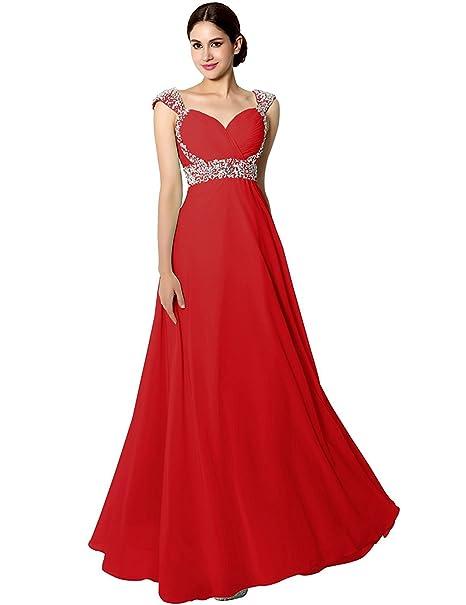 Amazon.com: Sarahbridal SD072 vestido largo de chifón ...
