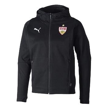 Puma VfB Stuttgart Casuals Hooded Jacket Chaqueta, Hombre, Black Red, Small: Amazon.es: Deportes y aire libre