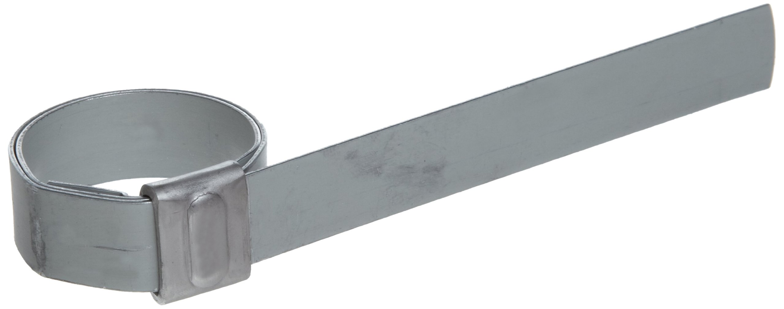 BAND-IT JS3039 Junior 1/2'' Wide x 0.030'' Thick, 1'' Diameter, Galvanized Carbon Steel Smooth I.D. Clamp (100 Per Box)