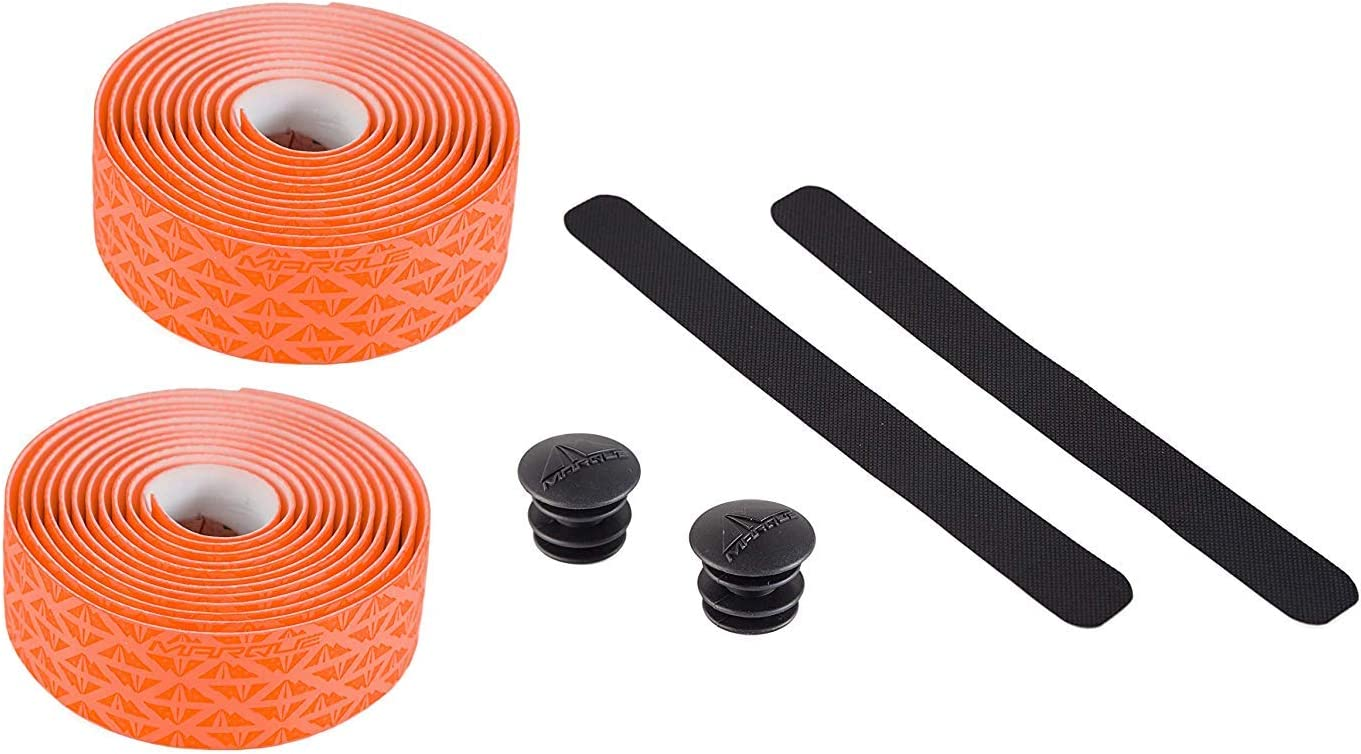 2PCS per Set MARQUE Pro Bike Handlebar Tape Road Cycling Bicycle Padded Handle Bar Wrap with Non-Slip Grip for Drop Bars