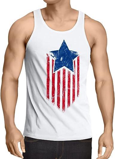 style3 USA American Star Camiseta de Tirantes para Hombre Tank Top: Amazon.es: Ropa y accesorios
