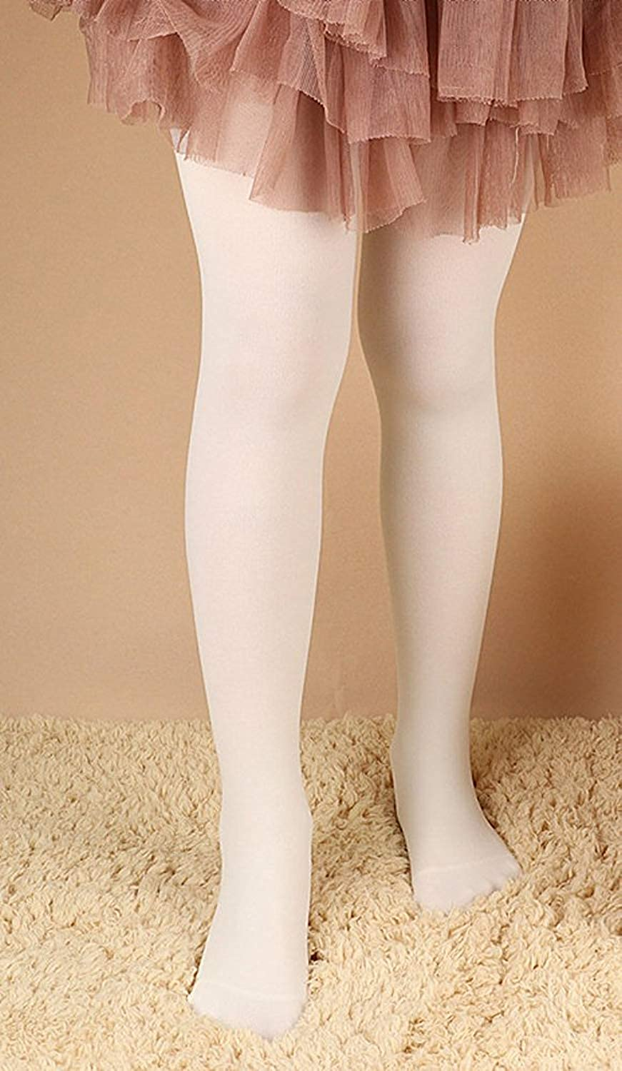 CHUNG Girls Footed Tights Light Weight Stretchy 60D Multi Candy Color Stage Play Costumes 2-12Y