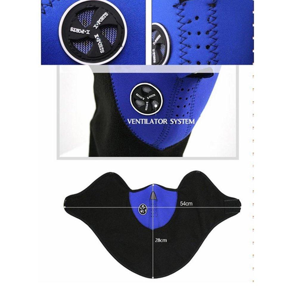 Azul Media Cara M/áscara Cuello velo de protecci/ón para esqu/í Snowboard Bicicleta Moto MTB camping