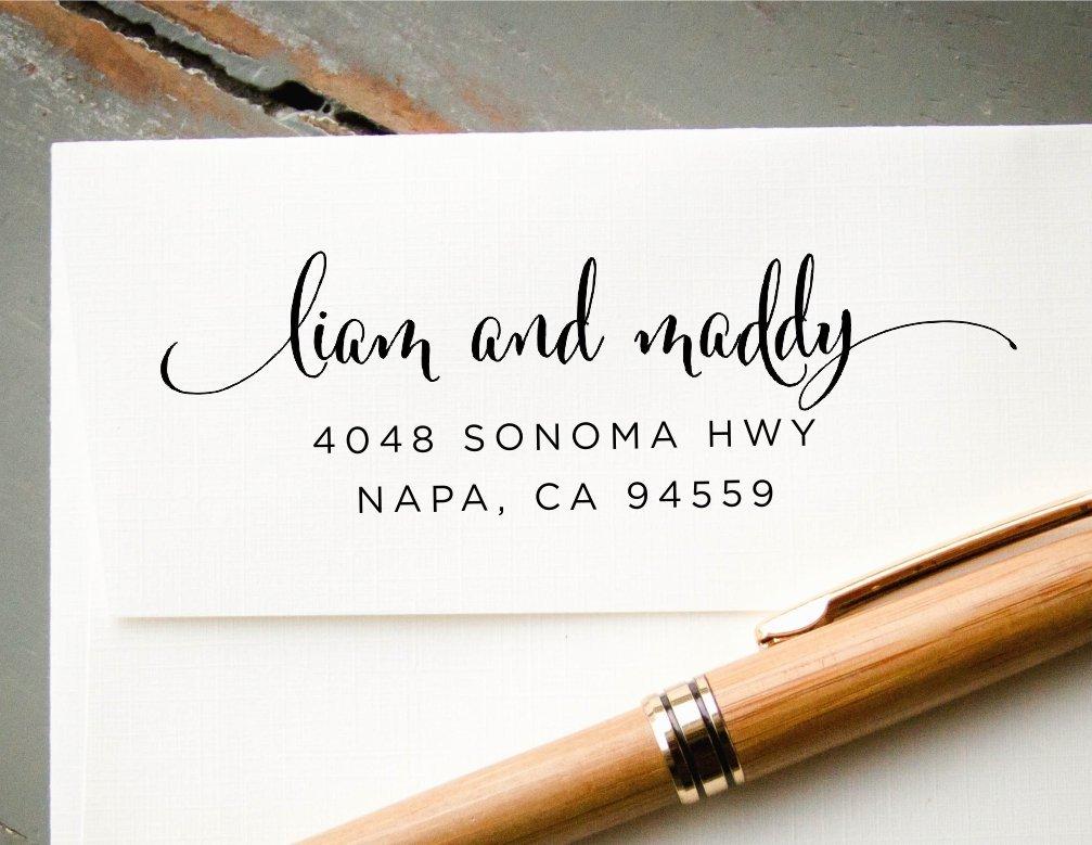 Amazon.com: Self-Inking Return Address Stamp, Pre-Inked Custom ...