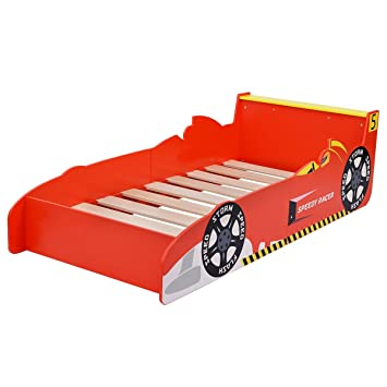 Amazon.com : Race Car Wooden Toddler Boys Bed Child Bedroom ...