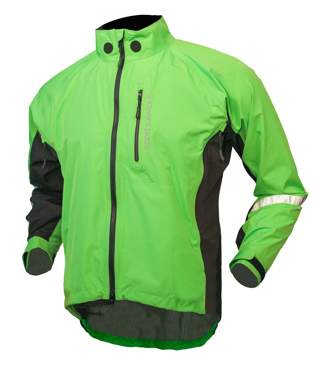 Showers Pass Mens Double Century RTX Waterproof Cycling Jacket 1126-LIME-MD