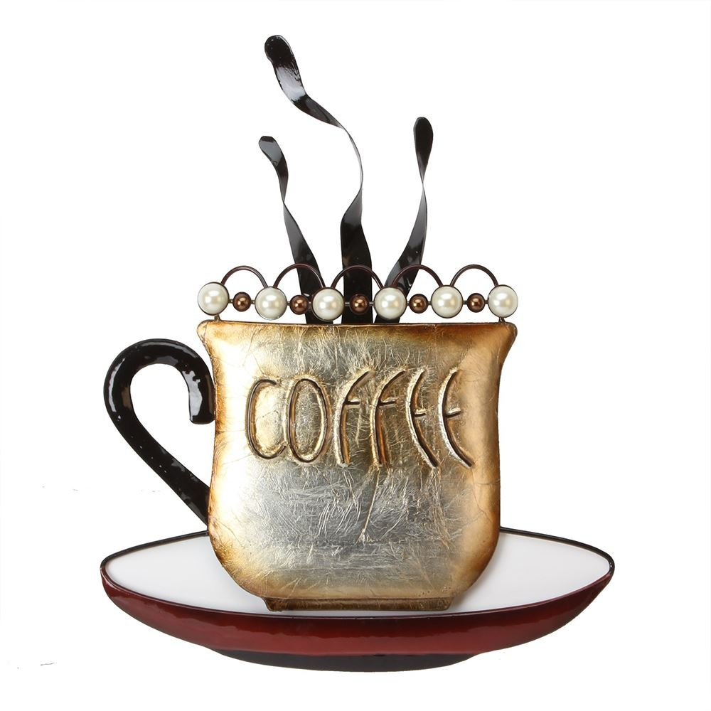 Coffee - Metal Wall Art, from Juliana Home Living. A decorative, modern, metal wall plate, ideal gift for the home, cafe, or restaurant (MWA809). Handmade in Bali