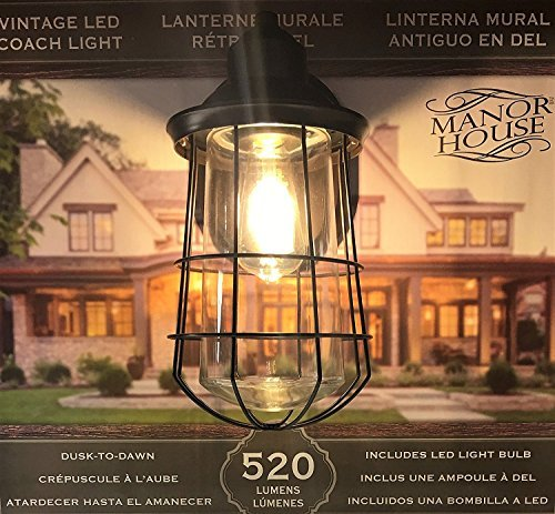 Manor House Vintage LED Coach Patio/Porch Light - Design House Light Fixtures