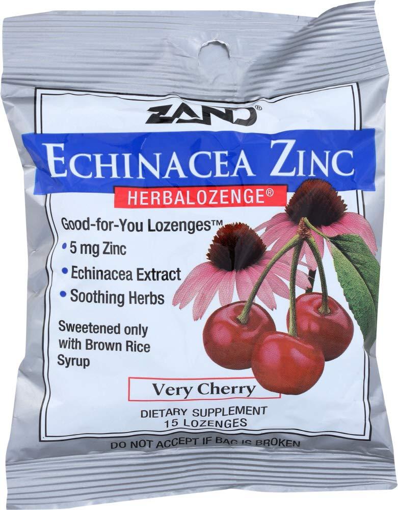 (1 Item ONLY) Echinacea Zinc Herbalozenge Very Cherry, 15 Lozenges