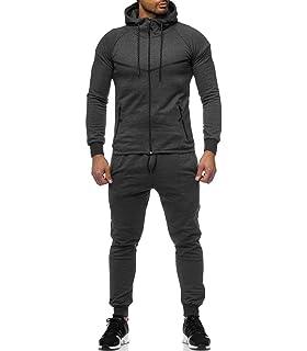 00e1095f2f Violento - Ensemble Jogging Streetwear Homme Survêt 976 Gris foncé - Gris