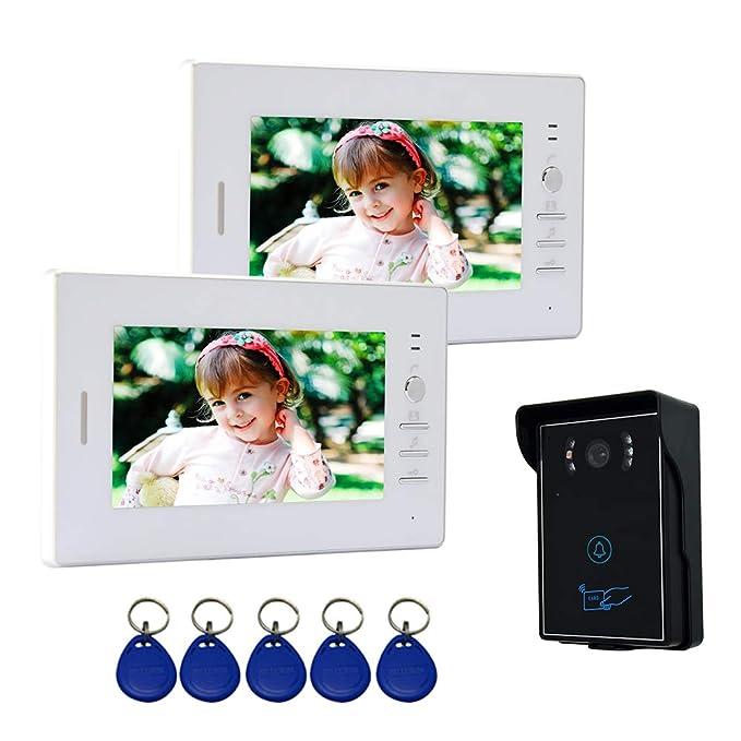 Nudito Kit Videoportero con 2 Monitores de 7