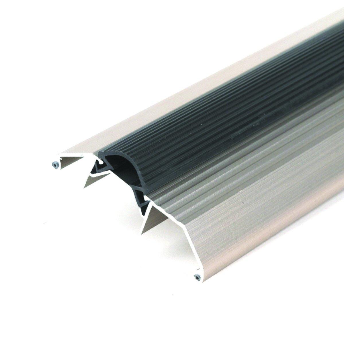 High 3-3/4'' Wide Aluminum Threshold with Vinyl Seal - #99051 by Custom Door Thresholds