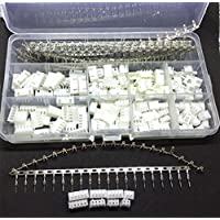 Ltvystore 560PCS 2.54MM JST-XHP 2 / 3 / 4 / 5 Pin Housing Kit, JST-XH Male Female Pin Connector Adapter Plug Set with Clear Plastic Box