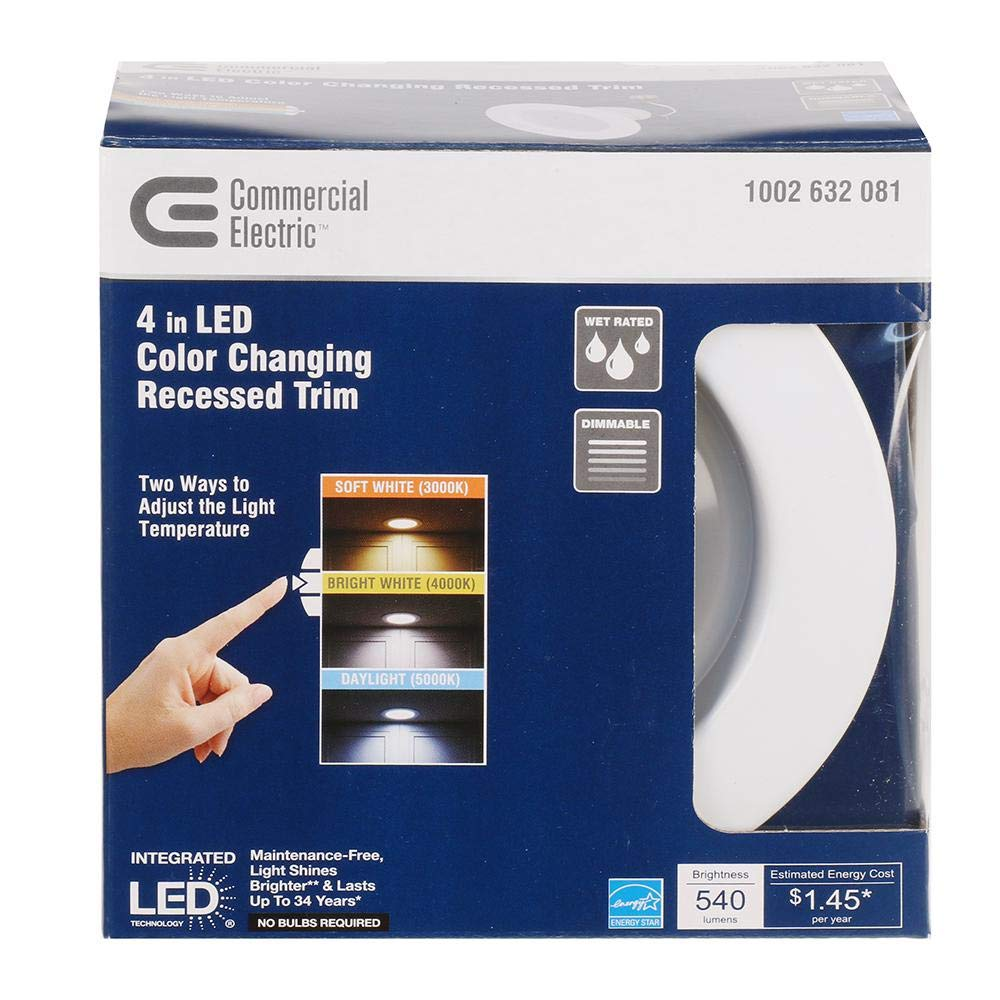 9-Watt Dimmable White Integrated LED Energy Star Recessed Retrofit Trim Downlight with Color Changing CCT - - Amazon.com