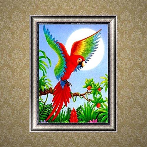 nnda Coカラフルなオウム5dダイヤモンド刺繍絵画クロスステッチDIYクラフト壁装飾