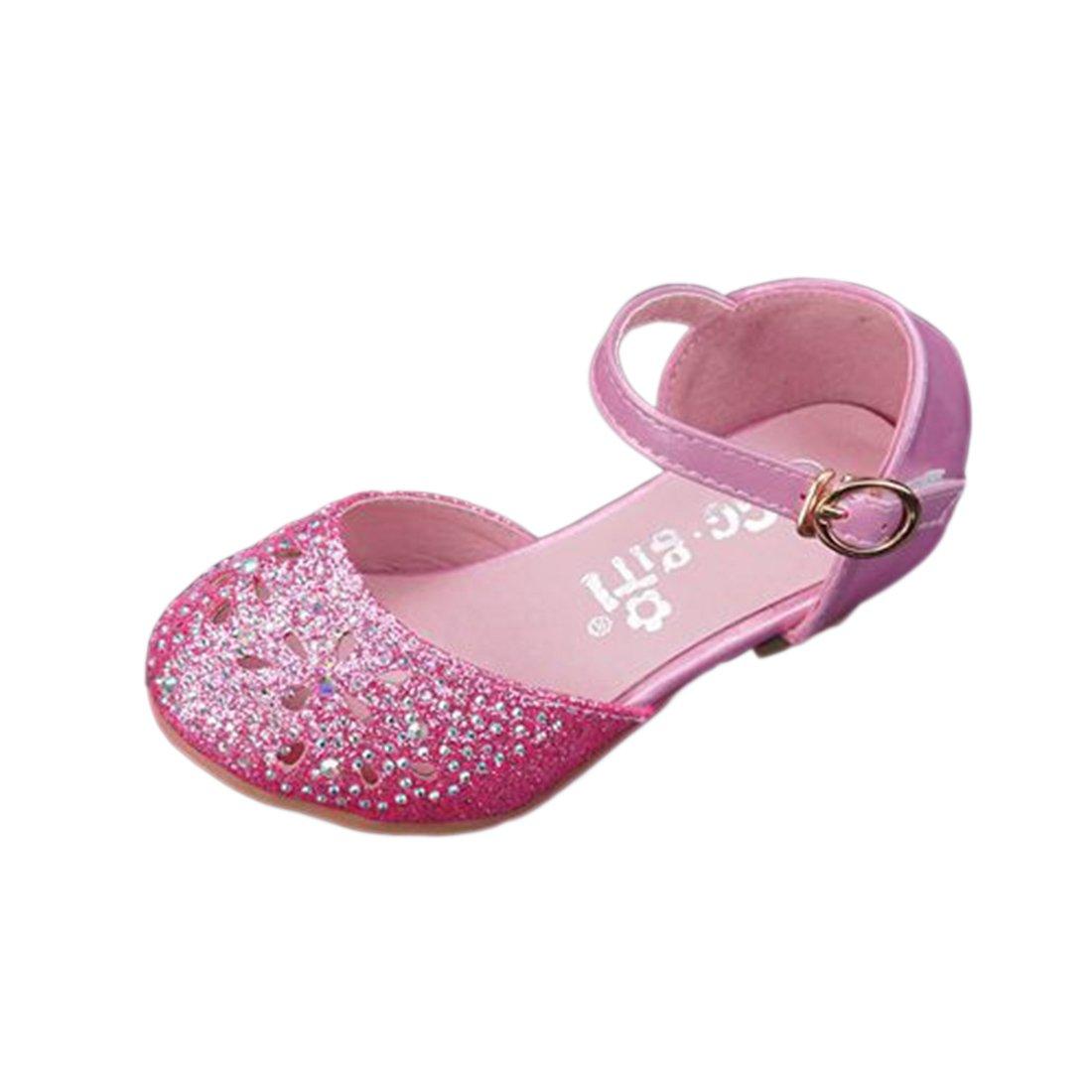 c8aed3b1e99b Yy.f YYF Fille Ballerine Chaussures à Talon à Déguisement Princesse Respirable  Confortable pour Enfant Fille  Amazon.fr  Chaussures et Sacs