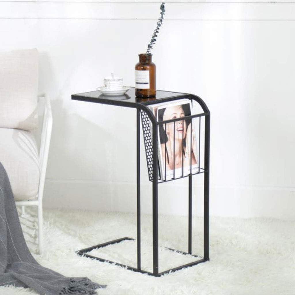 Goed Verkopen Huahua Furniture Bijzettafel, salontafel, moderne, minimalistische slaapkamer, nacht bijzettafel, mini-Europese smeedijzer, sofatafel, klein eindstukken zwart aqi06py