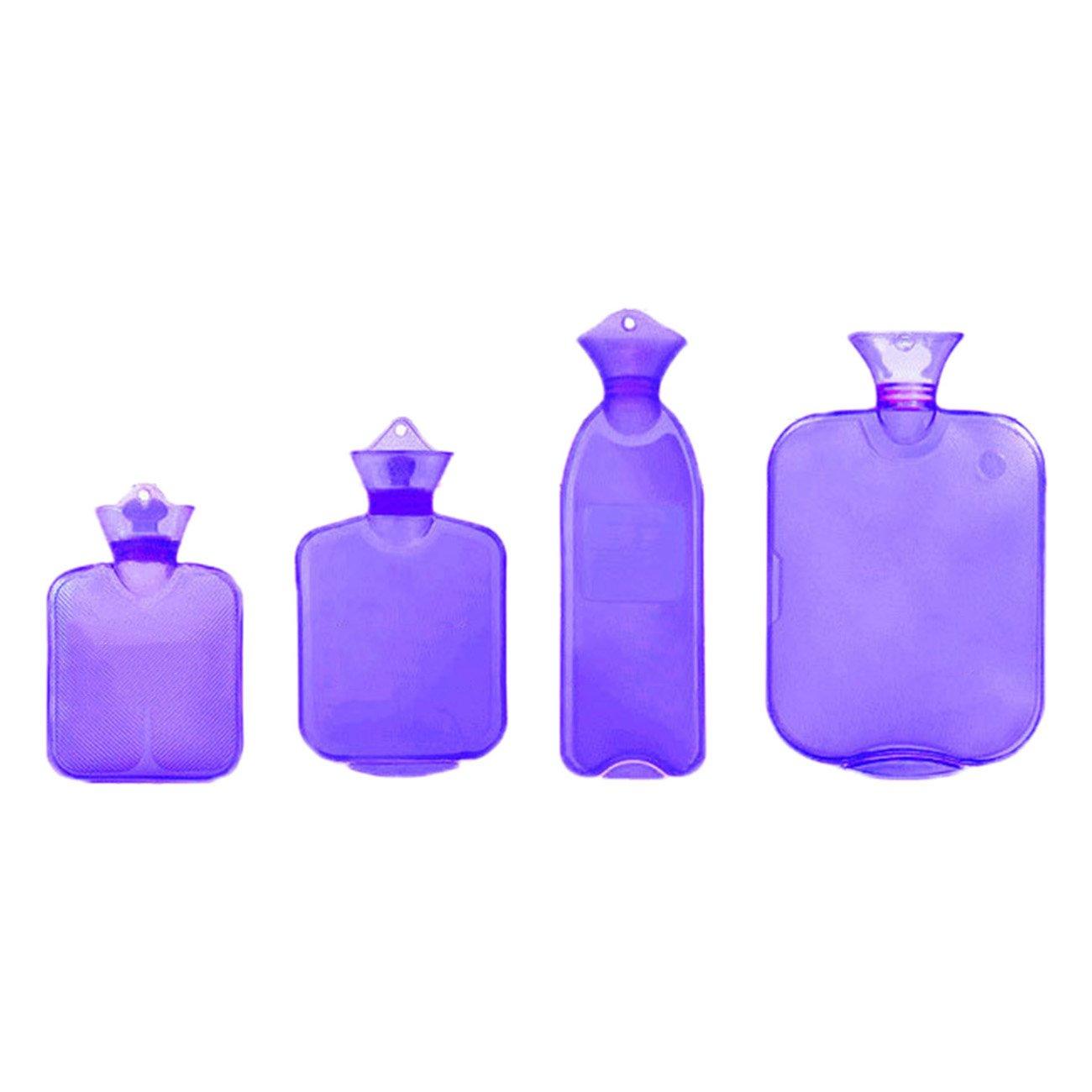 THEE 4pcs Set Hot Water Bottle Bag Transparent PVC