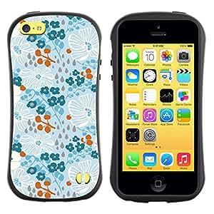 """Hypernova Slim Fit Dual Barniz Protector Caso Case Funda Para Apple iPhone 5C [Invierno Primavera Flores Wallpaper""""]"""