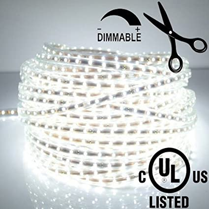 Amazon ledjump bright pure white dimmable 300 lights led tape ledjump bright pure white dimmable 300 lights led tape flexible strip 164ft5meter 12 mozeypictures Images