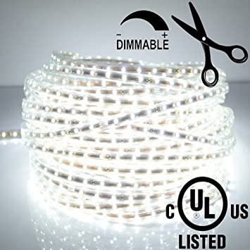 Amazon ledjump bright pure white dimmable 300smd led tape ledjump bright pure white dimmable 300smd led tape ribbon flexible strip lights 164ft5meter mozeypictures Choice Image
