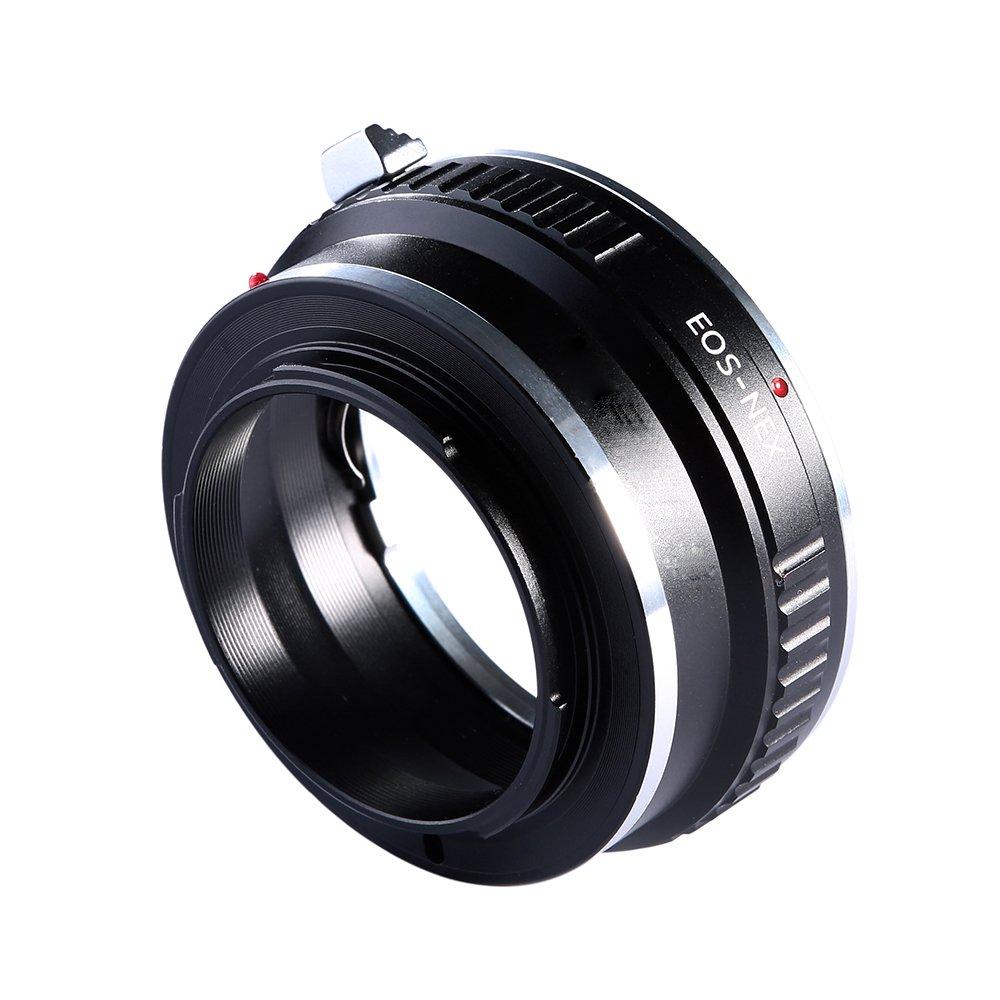 Adapter To Convert Canon EOS, EF, EF-S Lens To E-mount/NEX For Alpha Sony a7, a7S, a7IIK, a7II, a7R II, a6500, a6300, a6000, a5000, a5100, a3000 Mirrorless Digital Camera