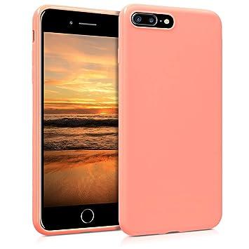 kwmobile Funda para Apple iPhone 7 Plus / 8 Plus - Carcasa para móvil en {TPU silicona} - Protector {trasero} en {coral mate}