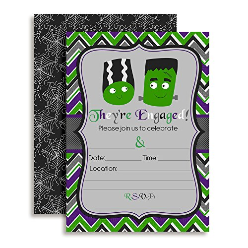 Halloween Engagement Party Invitations (Frankenstein Engagement Party Invitations, 20 5