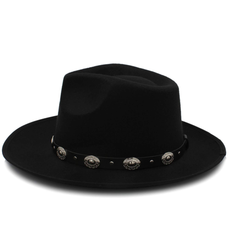 ff52fb8a1 Coffee DOSOMI Fashion Men Felt Fedora Hat Autumn Wide Brim Brim Brim ...