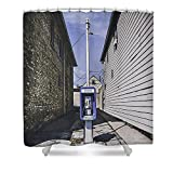 Pixels Shower Curtain (74'' x 71'') ''Urban Dinosaur''